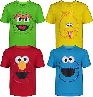 Sesame Street Cookie Elmo Grouch Boys 2-Pack Bodysuits Infant Newborn-24 Months