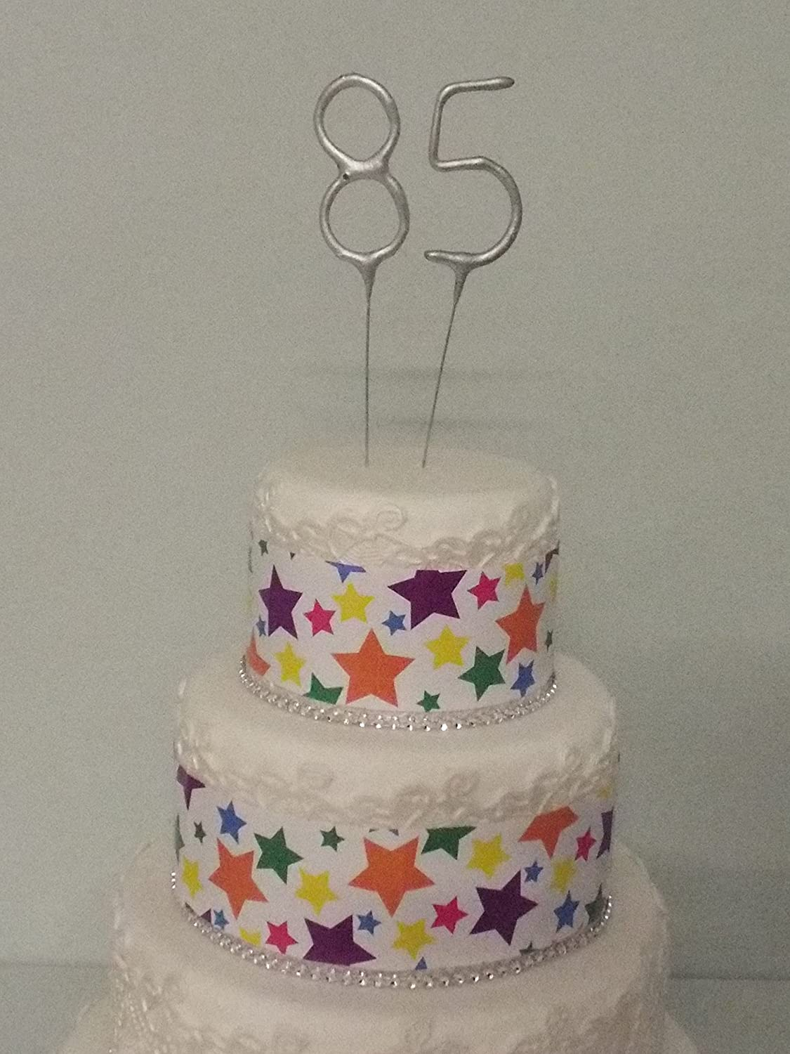 Sparkler Sparkling Number Birthday Cake Candles Age Aged 85 85th