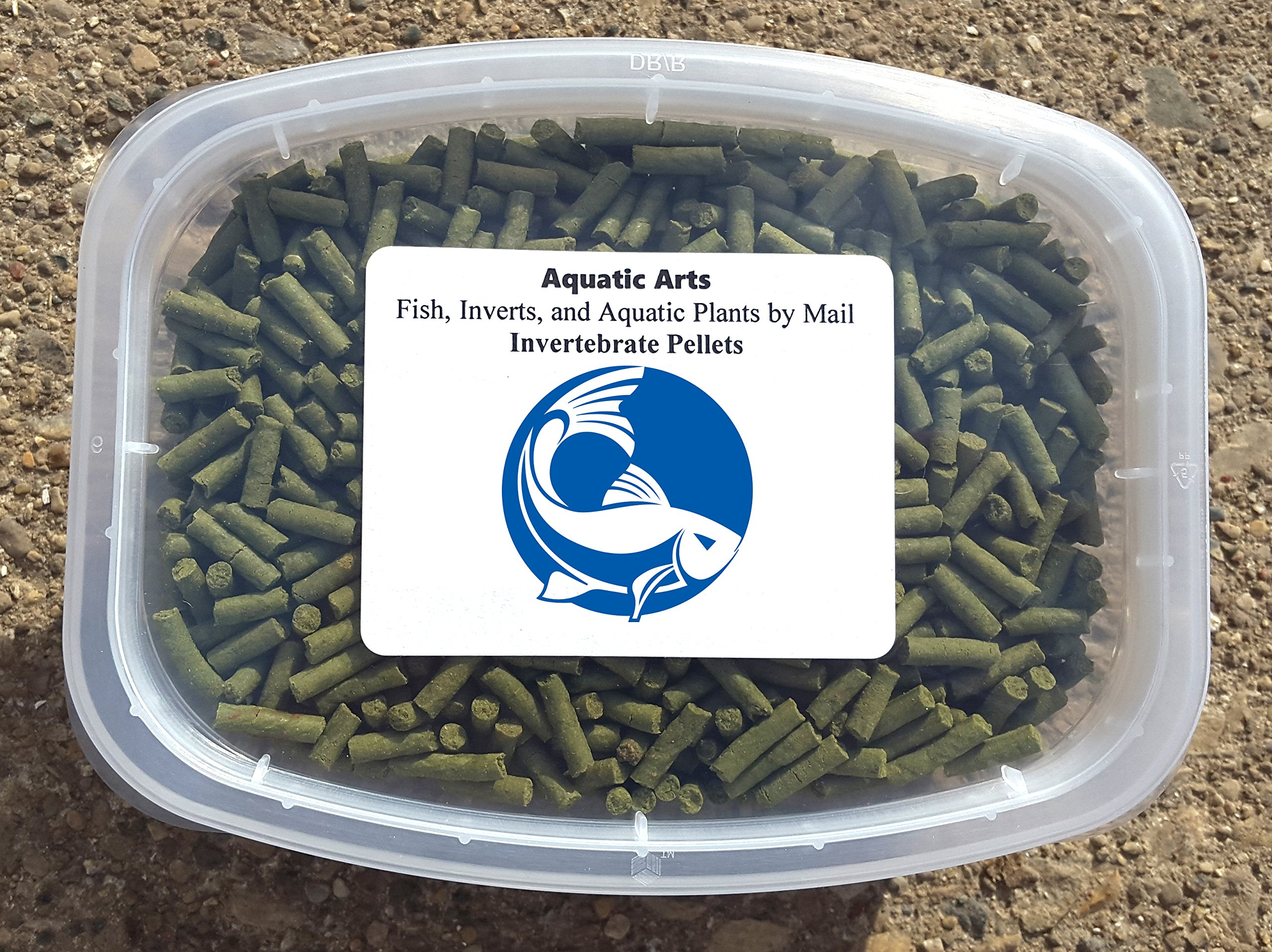 Aquatic Arts Sinking Pellets (.5 lb) Spirulina Food for Freshwater Invertebrates (Crayfish, Crabs, Shrimp, Snails), Fish (Cichlid, Tetra) and more