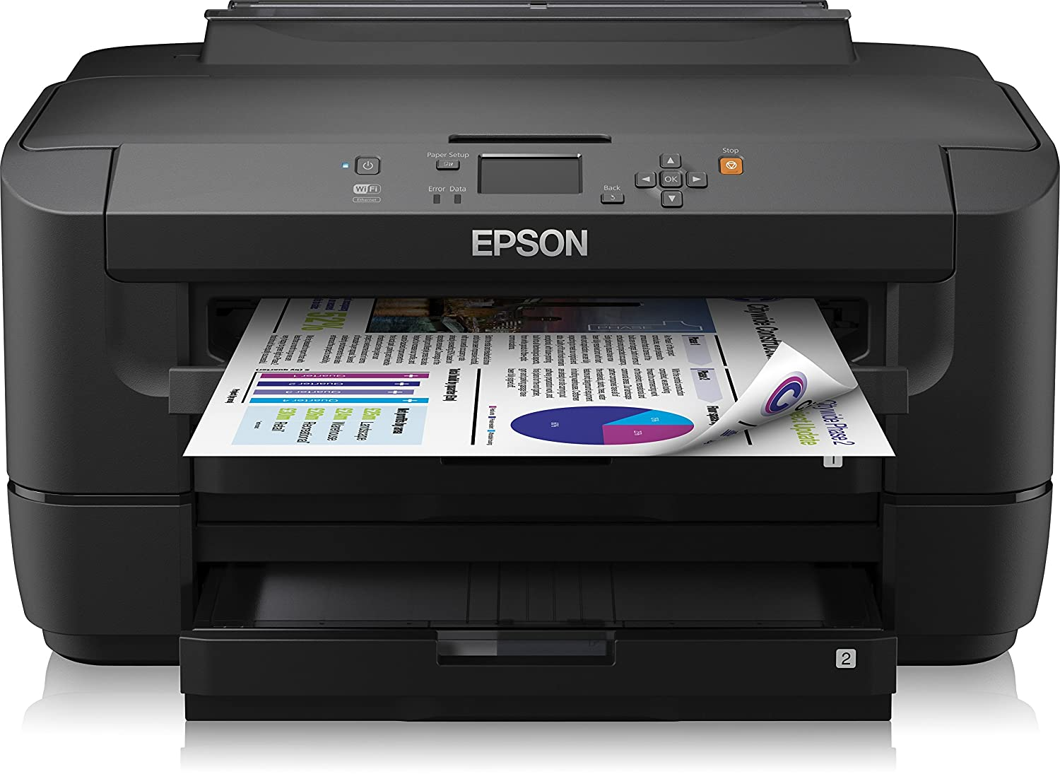 Epson WorkForce WF-7110DTW - Impresora a color (WiFi, WiFi Direct y Ethernet), color negro