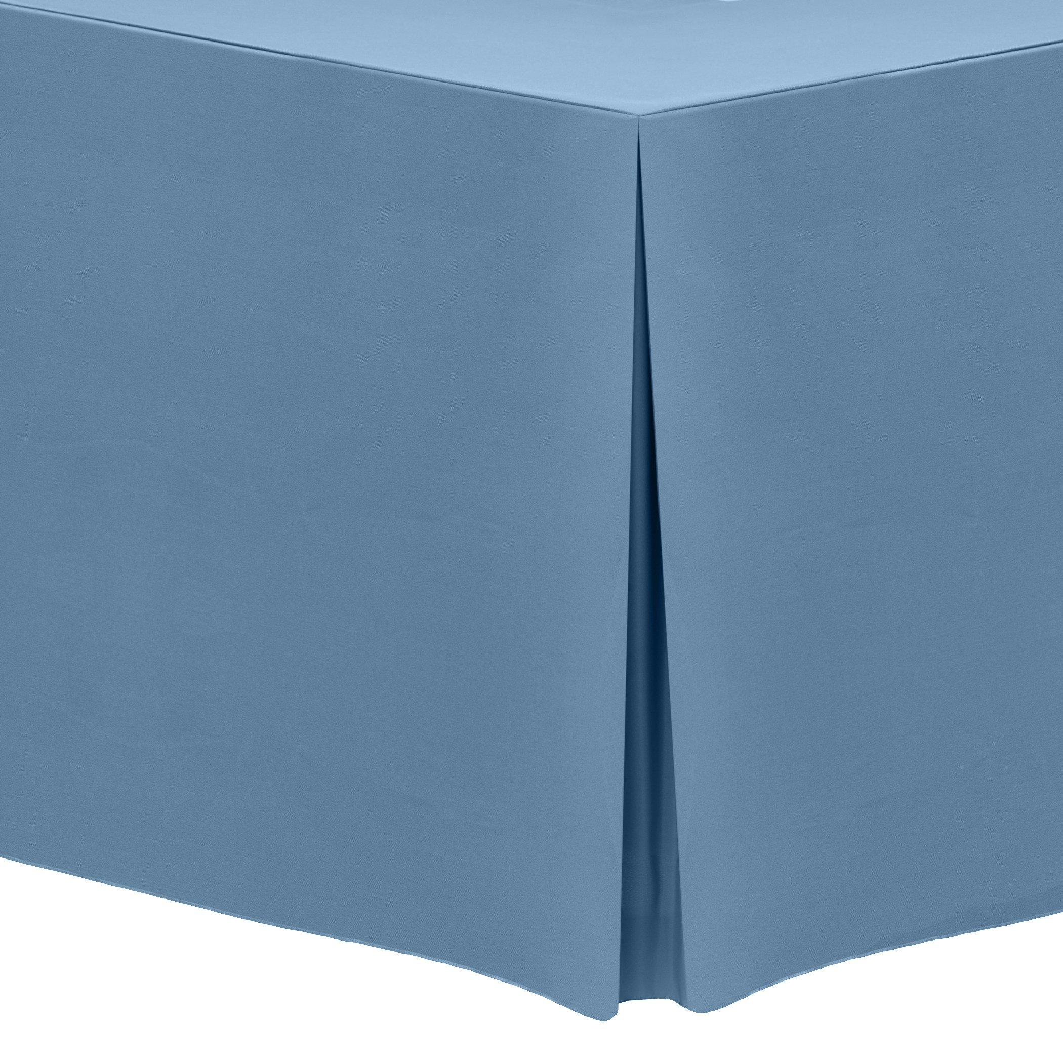 Ultimate Textile (10 Pack) 6 ft. Fitted Polyester Tablecloth - for 30 x 72-Inch Banquet and Folding Rectangular Tables, Slate Blue