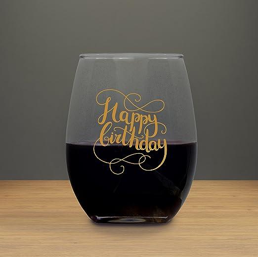 Feliz cumpleaños 21 oz sin tallo copa de vino, Raise Your ...