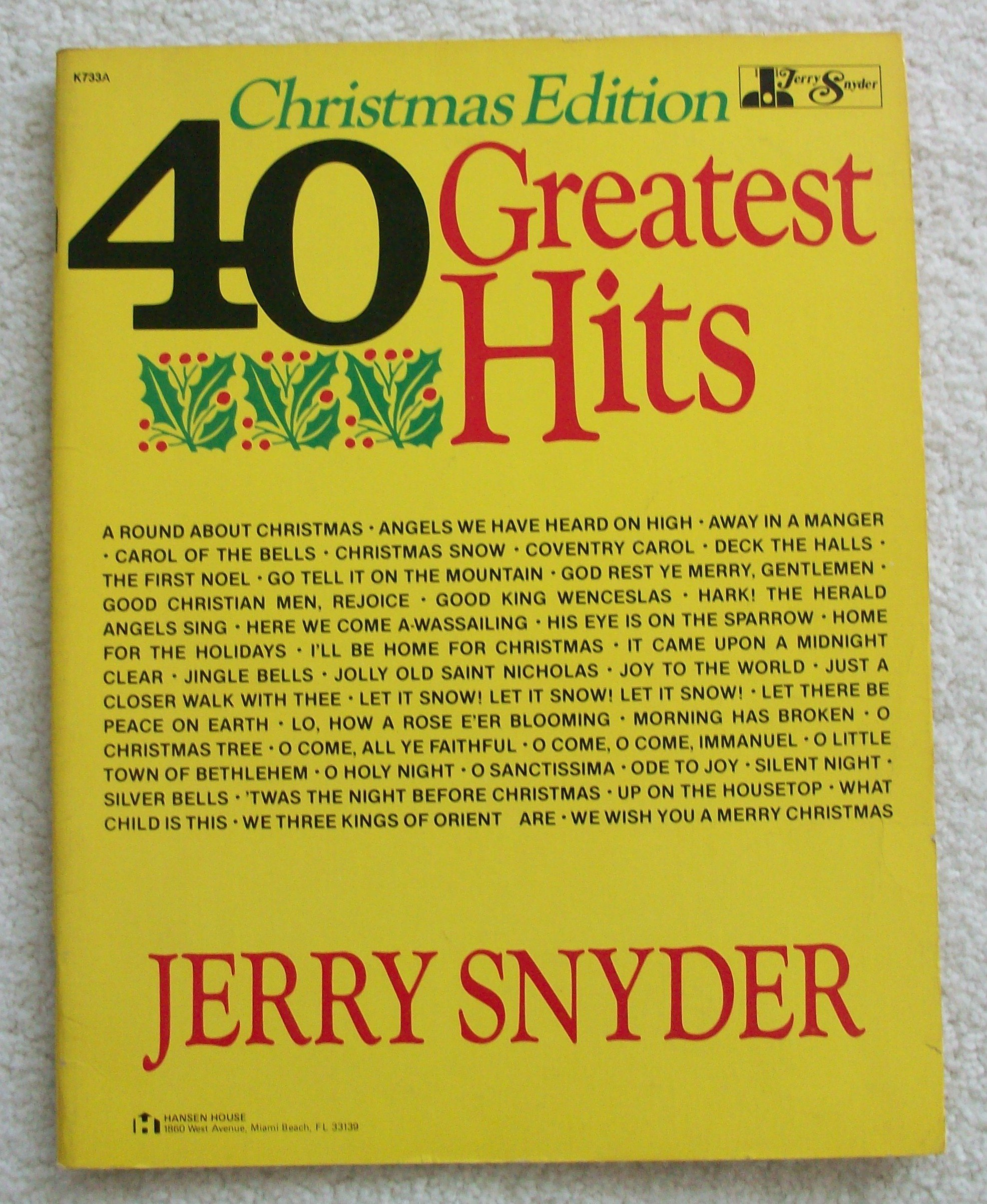 Christmas Edition 40 Greatest Hits For Guitar Arranged By Jerry