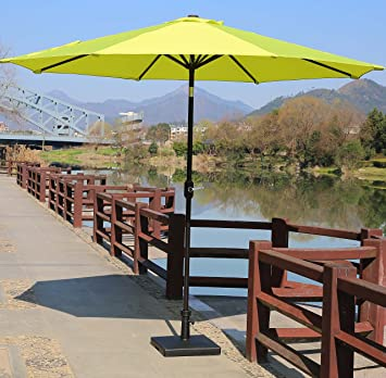Sumbel Outdoor Living 10 FT Round Bronze Aluminum Market Patio Umbrella  With Push Button Tilt/
