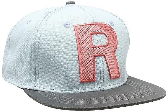 Unisex Pokemon Team Rocket Snapback Dark Grey Baseball Cap, Black, One Size Meroncourt