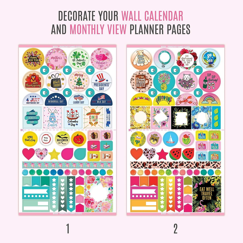 Amazon.com: Mirida Planner Stickers for Journaling, Agenda ...