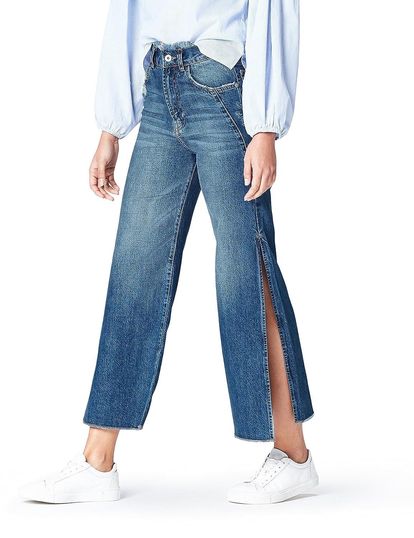 FIND Jeans a Gamba Larga alla Caviglia Donna 55051