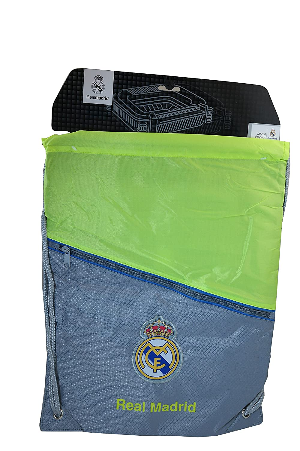 Real Madrid c.f. Authentic Official Licensed Soccer Cinch Bag B00J5X63EA Medium|ブラックと矢(Black with Arrow) Medium