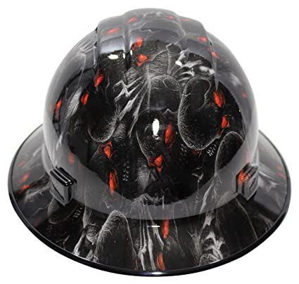 d0a5e9585a1 HardHatGear Custom Hydro Dipped VENTED Full Brim Hard Hat in  Red Eyes  -  Made in USA - - Amazon.com