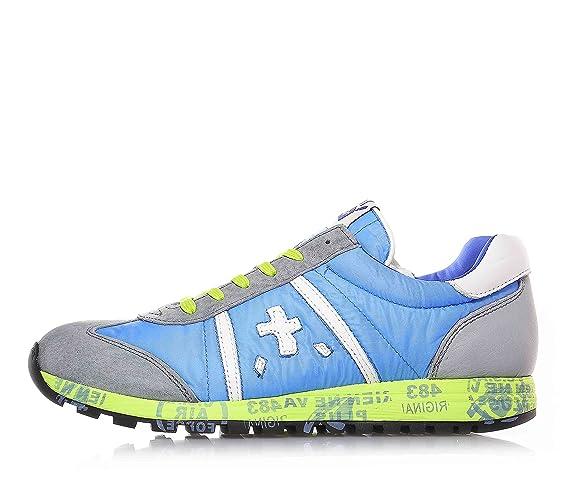 PREMIATA - Grau-hellblaue Sneakers mit Schnürsenkel, aus Wildleder und  Stoff, grüne Schnürsenkel, Kind, Jungen, Jungs, Herren-34  Amazon.de  Schuhe    ... 495f7906e2