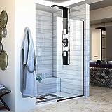"DreamLine Linea 30 in. Width, Frameless Shower Door, 3/8"" Glass, Oil Rubbed Bronze Finish"