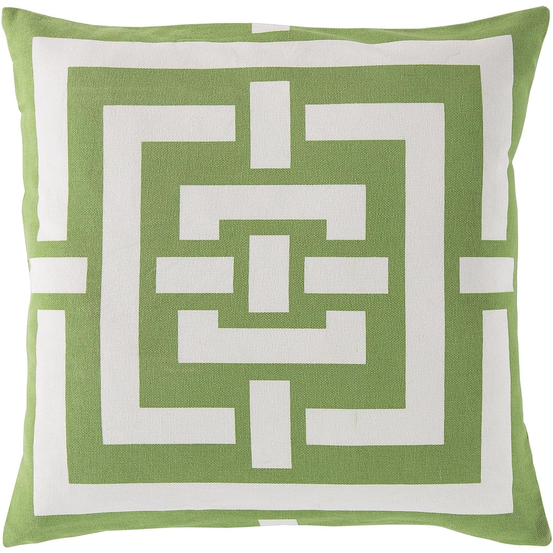 Surya Rug FB004-2020P Square Apple Green Poly Fiber Pillow 20 x 20 in.   B00H2KBXQQ