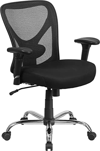 Flash Furniture Big Tall Office Chair | Adjustable Height Mesh Swivel Office Chair