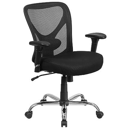 Beau Flash Furniture HERCULES Series Big U0026 Tall 400 Lb. Rated Black Mesh Swivel  Task Chair