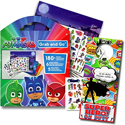 PJ Masks Stickers Activity Set with Superhero Door Hanger