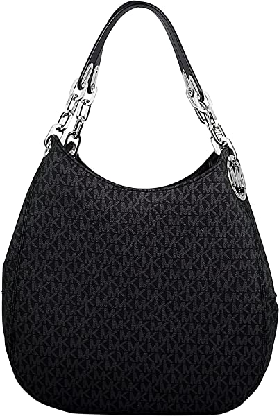3c17e6d7da40 Amazon.com  MICHAEL Michael Kors Signature Large Fulton Shoulder Bag  (Black)  Michael Kors  Clothing