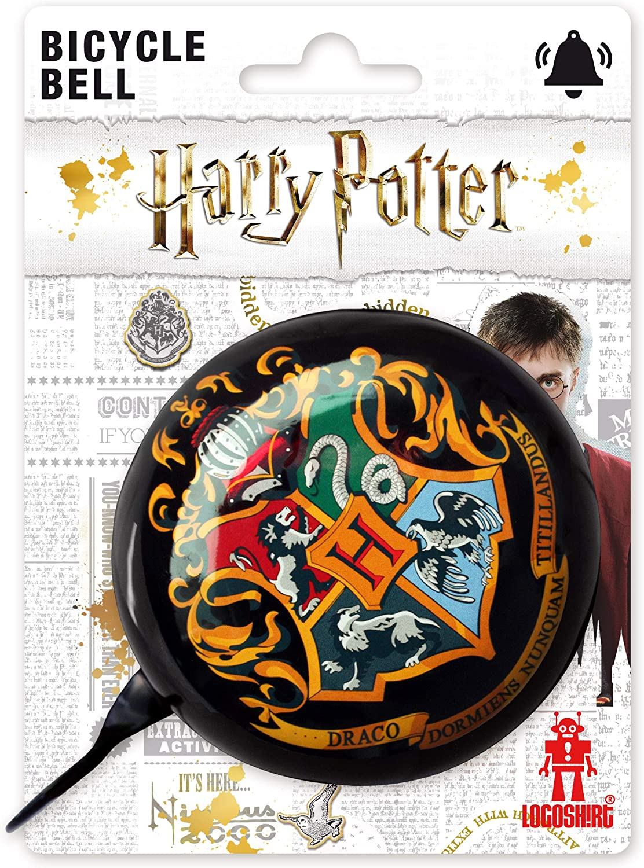 Logoshirt - Harry Potter - Hogwarts - Timbre Bicicleta - Retro - Grande - Negro - Diseño Original con Licencia