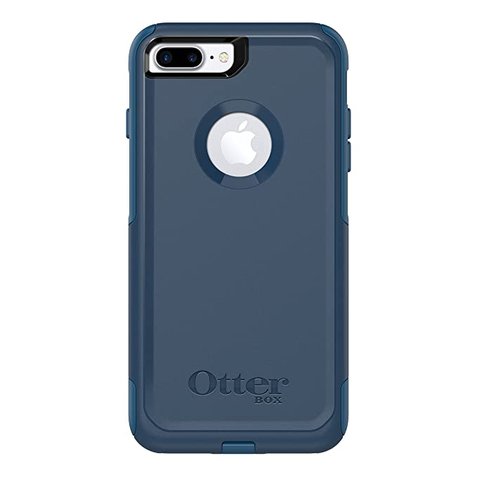 watch 15185 01a69 OtterBox COMMUTER SERIES Case for iPhone 8 Plus & iPhone 7 Plus (ONLY) -  Retail Packaging - BESPOKE WAY (BLAZER BLUE/STORMY SEAS BLUE)