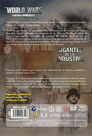 Amazon.com: PAQ. GIGANTES DE LA INDUSTRIA + GUERRAS MUNDIALES / DVD: Movies & TV