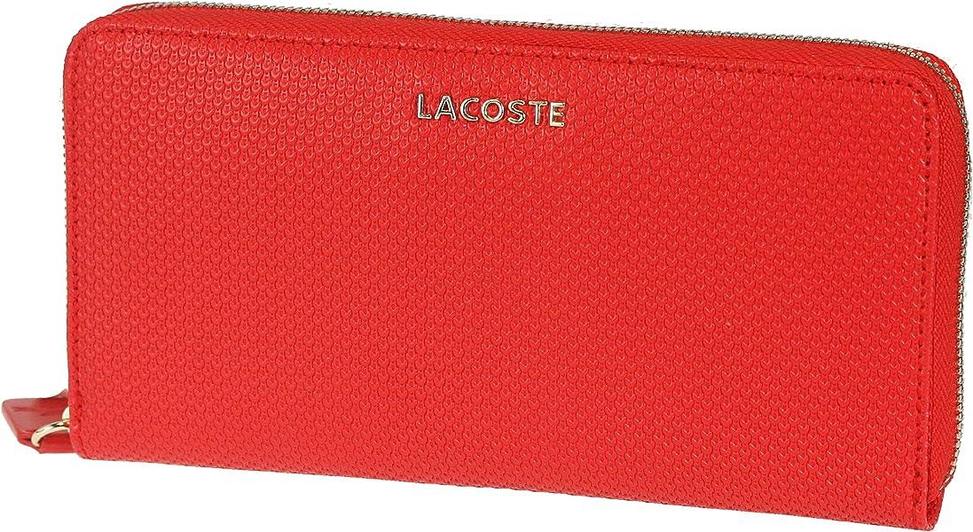 mejor servicio 6d5f1 35e81 Lacoste NF0449IS - Billetera de Piel Mujer, Color Rojo ...