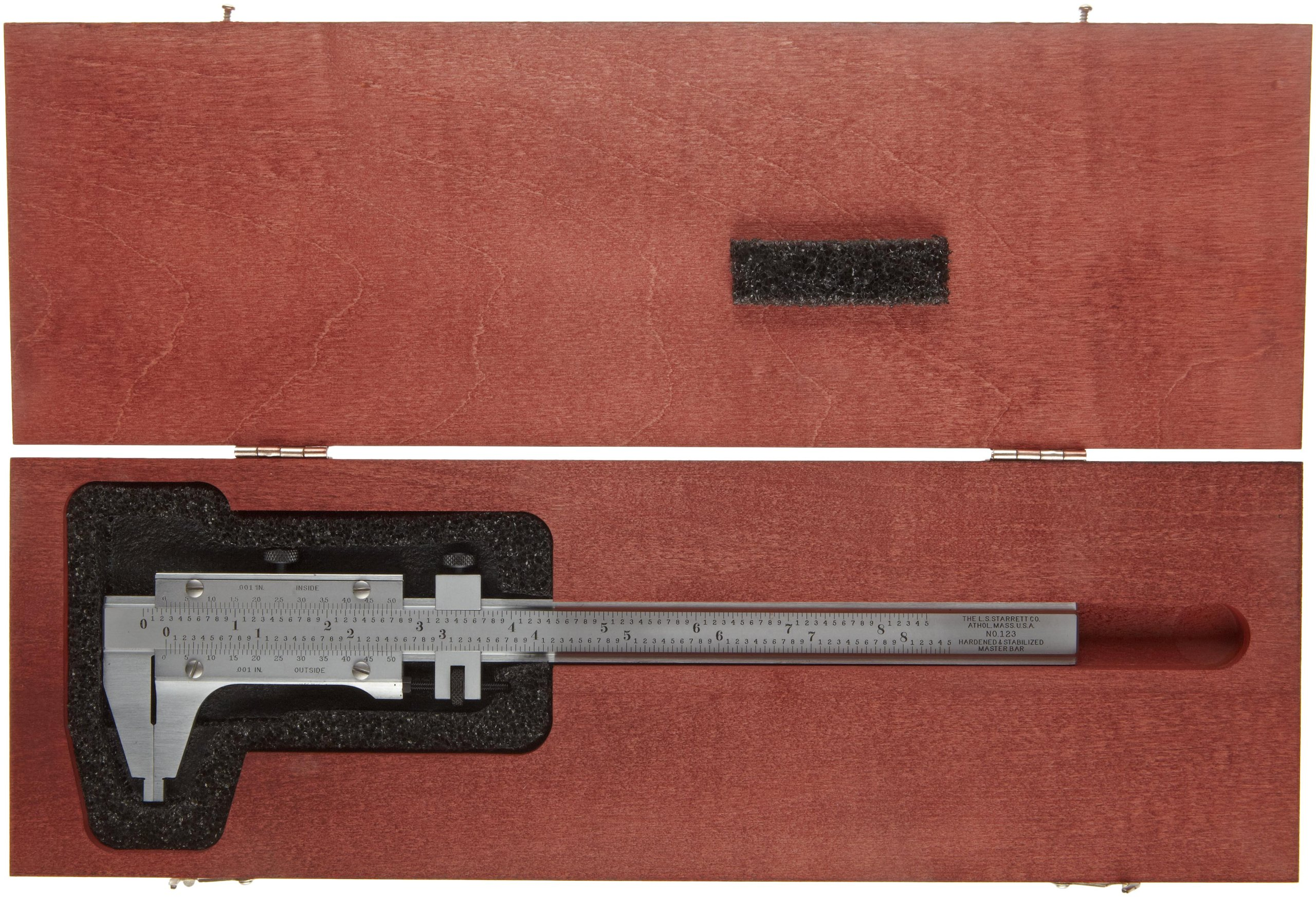 Starrett 123Z-6 Vernier Caliper, Steel, Nib Style Jaw, 0-6'' Range, +/-0.0005'' Accuracy, 0.001'' Resolution by Starrett (Image #2)