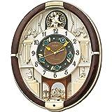 セイコー クロック 掛け時計 電波 アナログ からくり 30曲 メロディ 回転飾り 濃茶 RE571B SEIKO