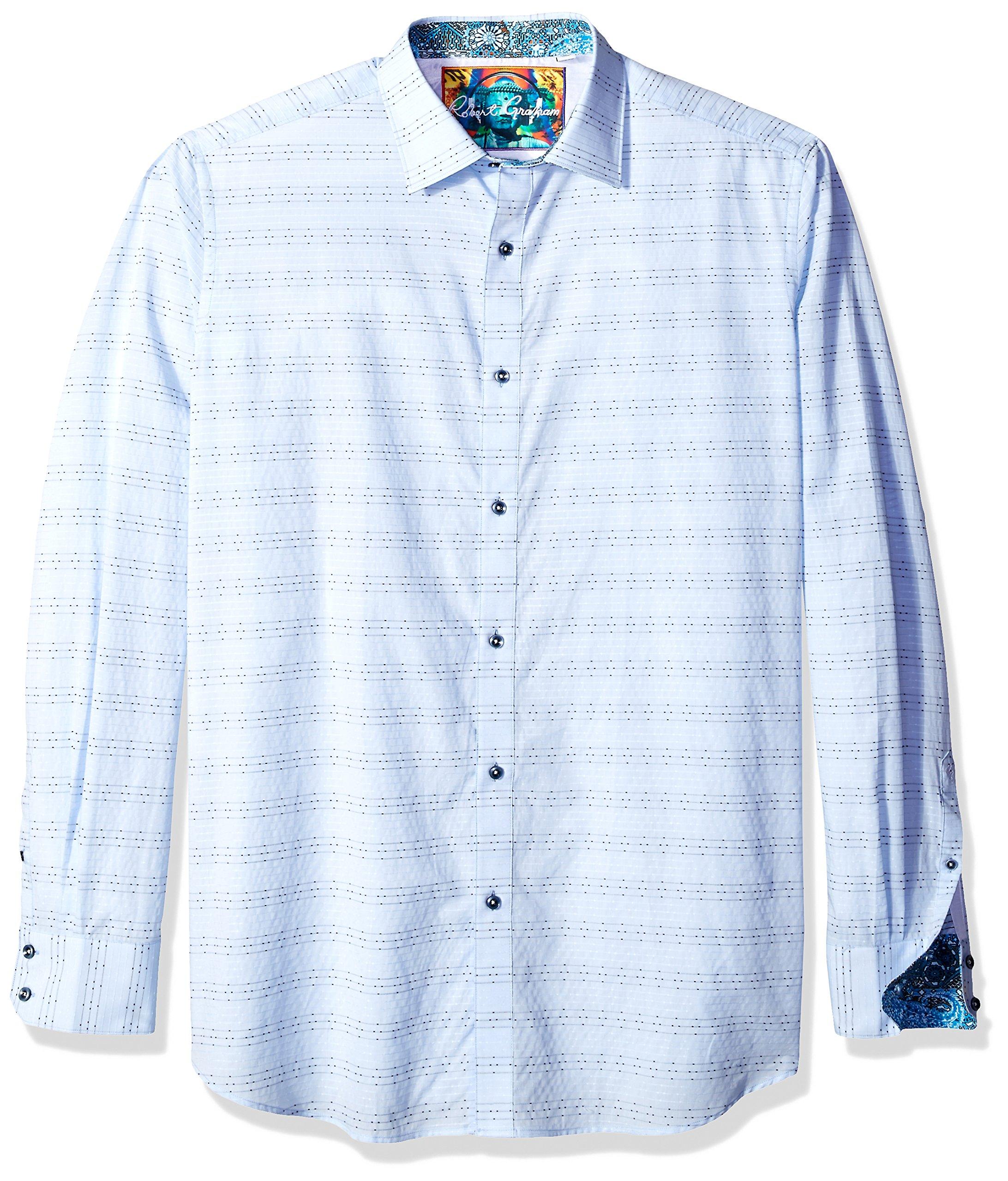 Galleon robert graham men 39 s big and tall dev light blue for Robert graham tall shirts