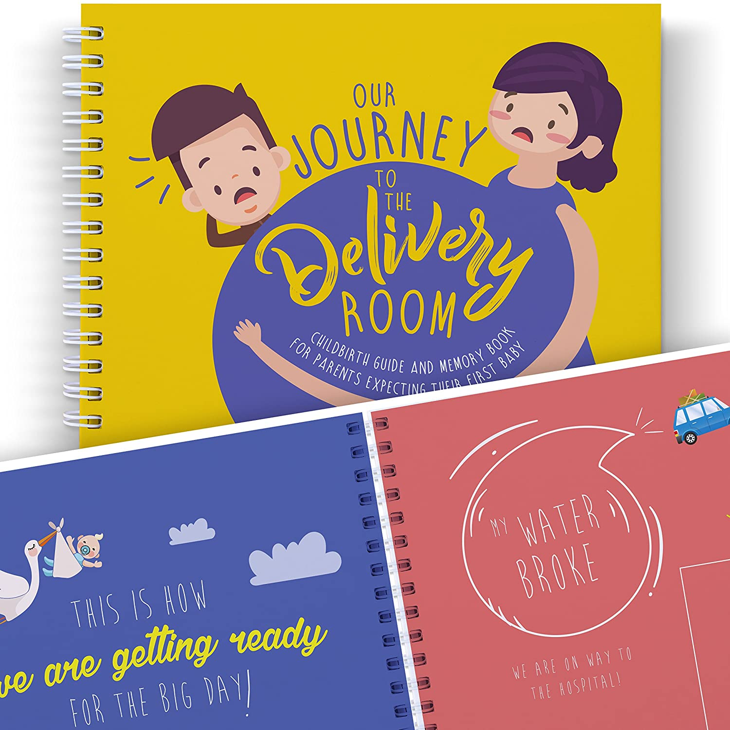 Mom to Be Journal: Our Adventure to The DELIVERY Room - A Funny Book to Treasure The Best Pregnancy Moments. Maternity Keepsakes, First Time Parents, Dad Gifts, and Baby Memory Book. Curious Goodies