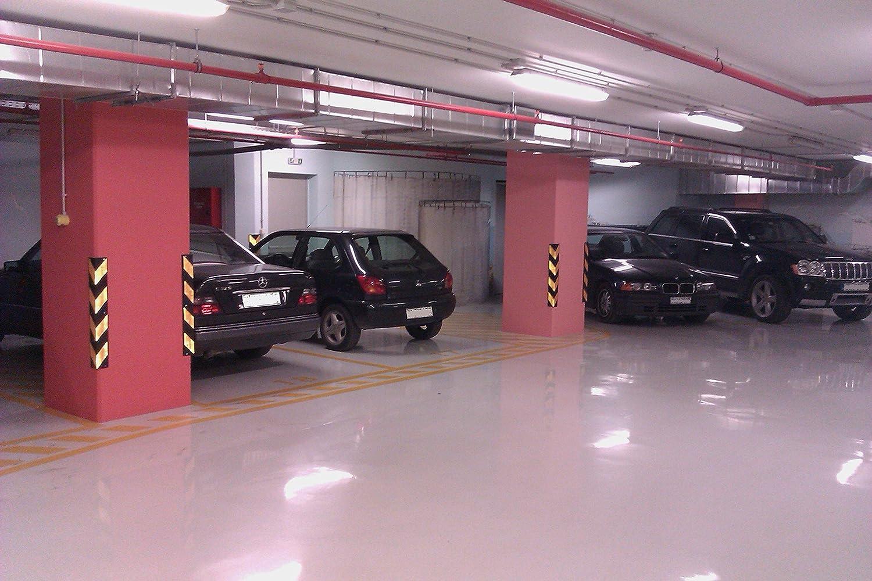 color negro y amarillo grosor de 8 mm SNS SAFETY LTD RCG-131x2 Protectores de goma para esquinas dimensiones 80 x 10 x 10 cm paquete de 2 piezas para aparcamientos y almacenes