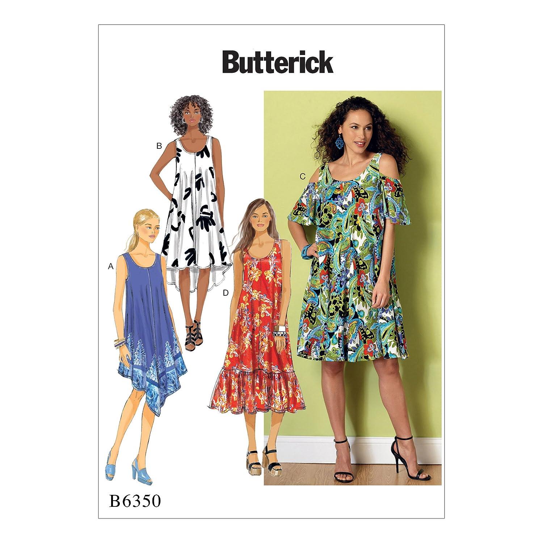 Butterick Patterns 6350 ZZ Schnittmuster Kleid, Größen groß – 2 x ...