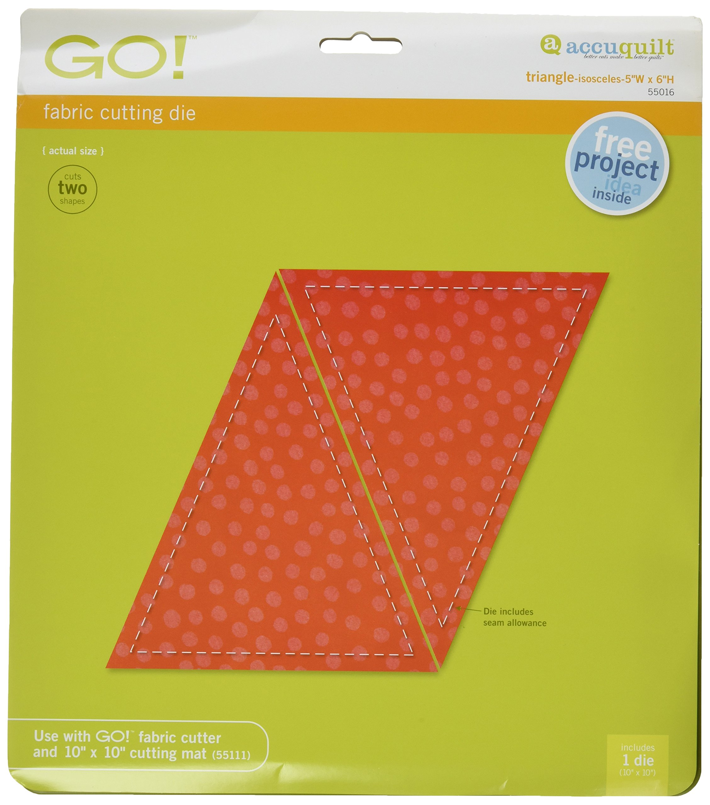 AccuQuilt GO! Fabric Cutting Dies; Triangle-Isosceles; 5-inch-by-6-inch