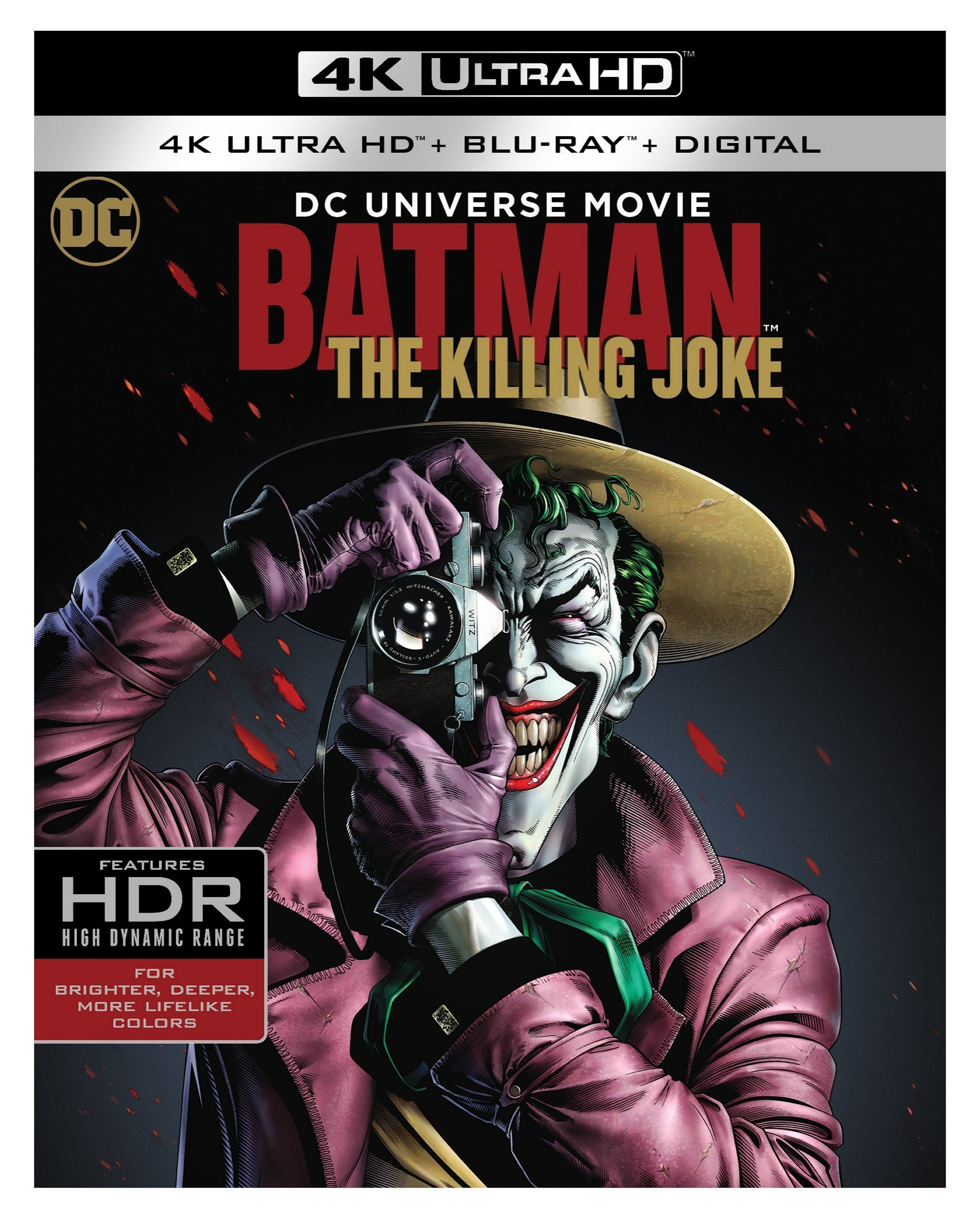 4K Blu-ray : Batman: The Killing Joke (Black, With Blu-ray, 4K Mastering, 2 Pack, Digital Copy)