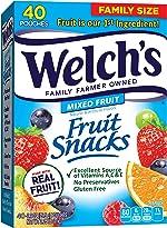 Welch's Fruit Snacks, Mixed Fruit, Gluten Free, Bulk Pack, 0.9 oz
