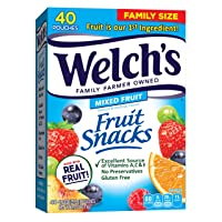 Welch's Fruit Snacks, Mixed Fruit, Gluten Free, Bulk Pack, 0.9 oz Individual Single...