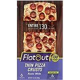 Flatout Thin Pizza Crust, Rustic White (2 Packs of 6 Pizza Crusts)