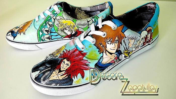 Zapatillas customizadas personalizados lona Kingdom Hearts - regalos para cumpleaños - regalos para el - regalos