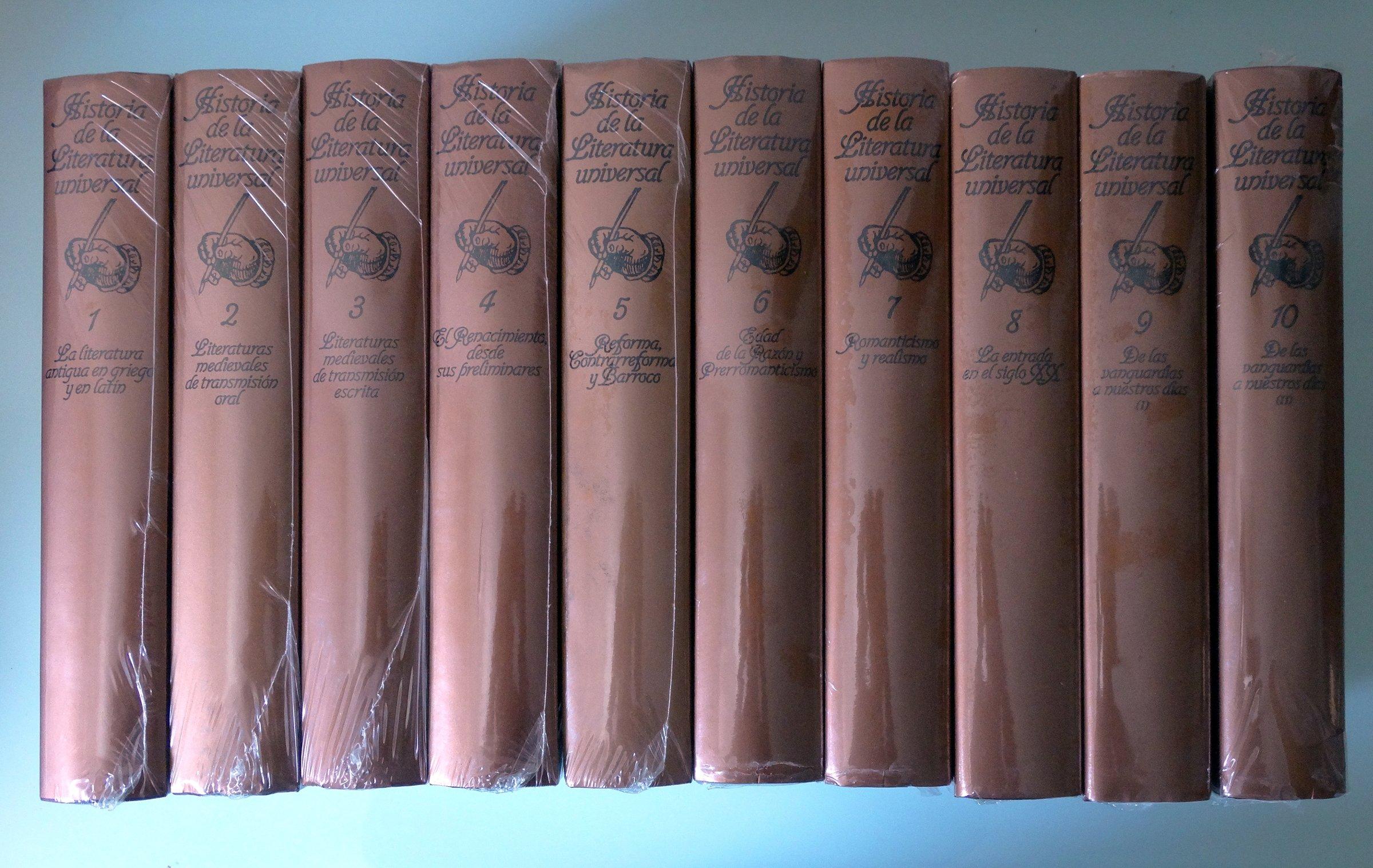 Historia de la Literatura Universal. 10 tomos: Amazon.es: José María Valverde y Martín de Riquer, Literatura Universal: Libros