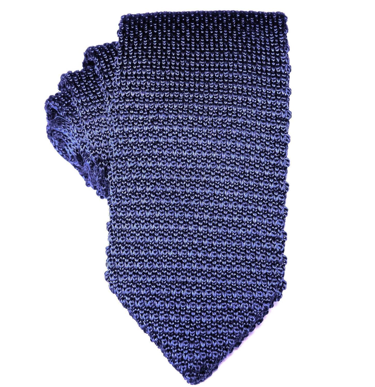 Corbata estrecha de punto navy | 5 años de garantía | Regalos para ...