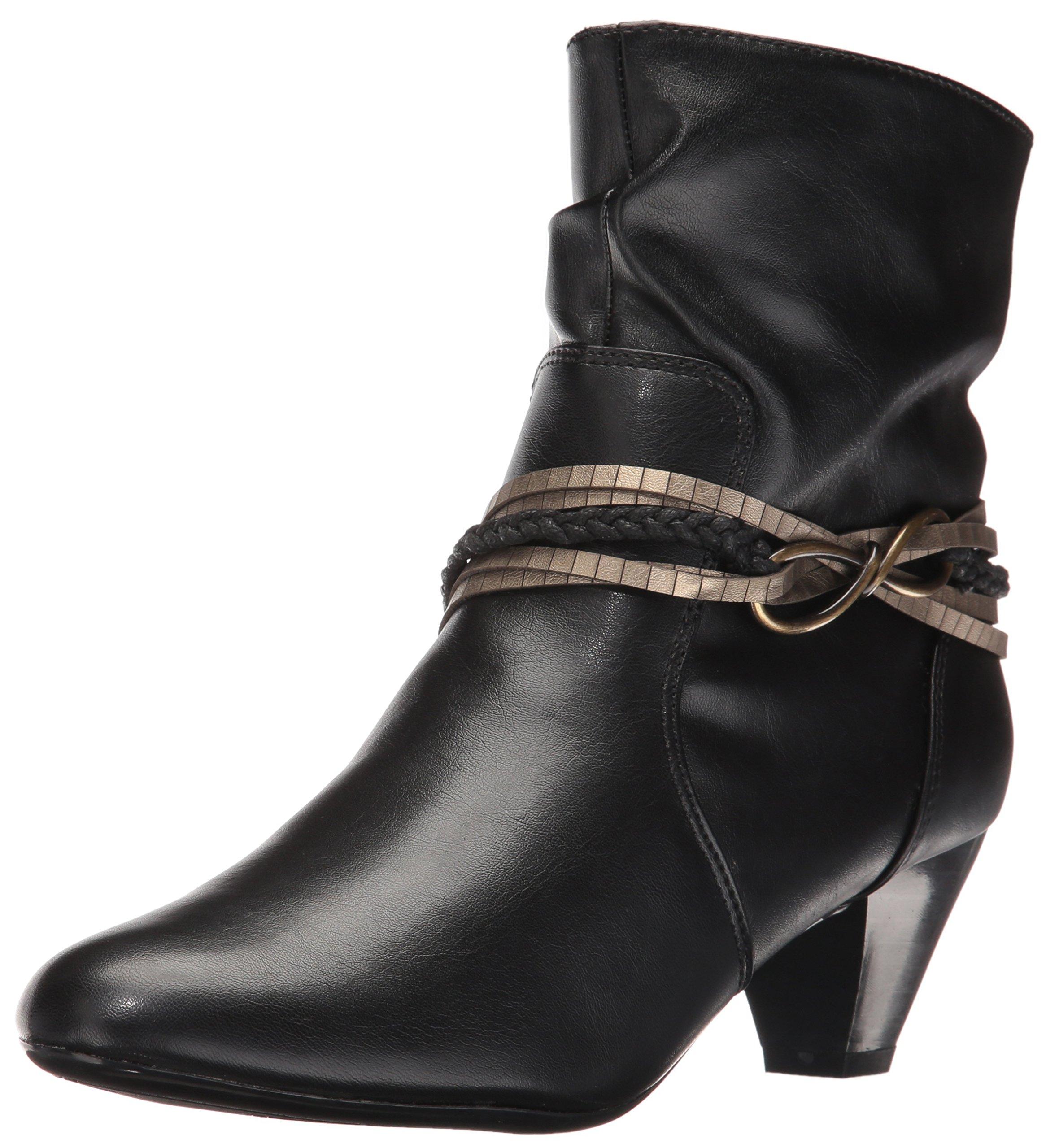 Soft Style by Hush Puppies Women's Gayla Boot, Black Vitello, 6.5 M US