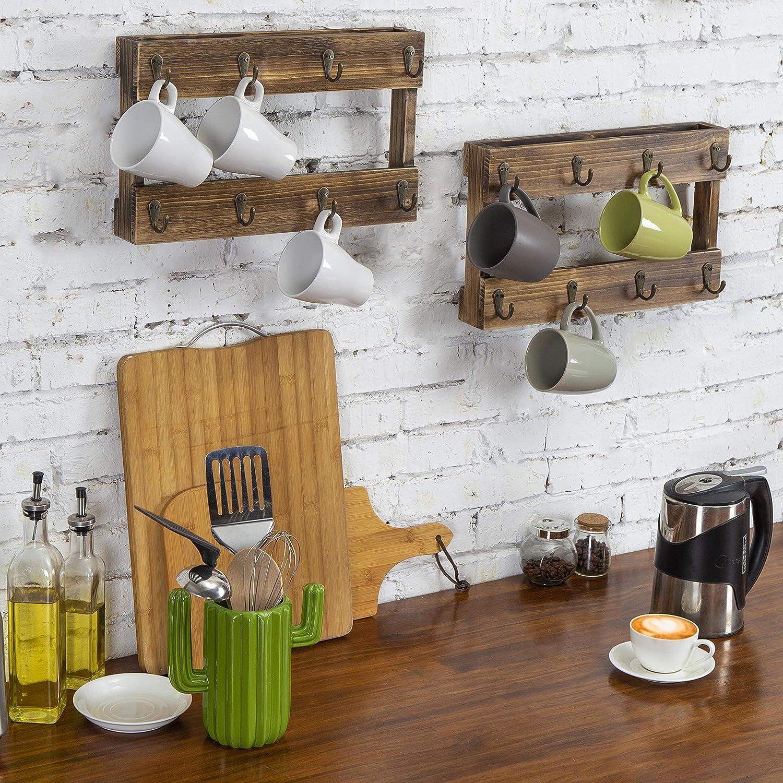 Amazon.com: MyGift - Soporte de pared para tazas de café ...