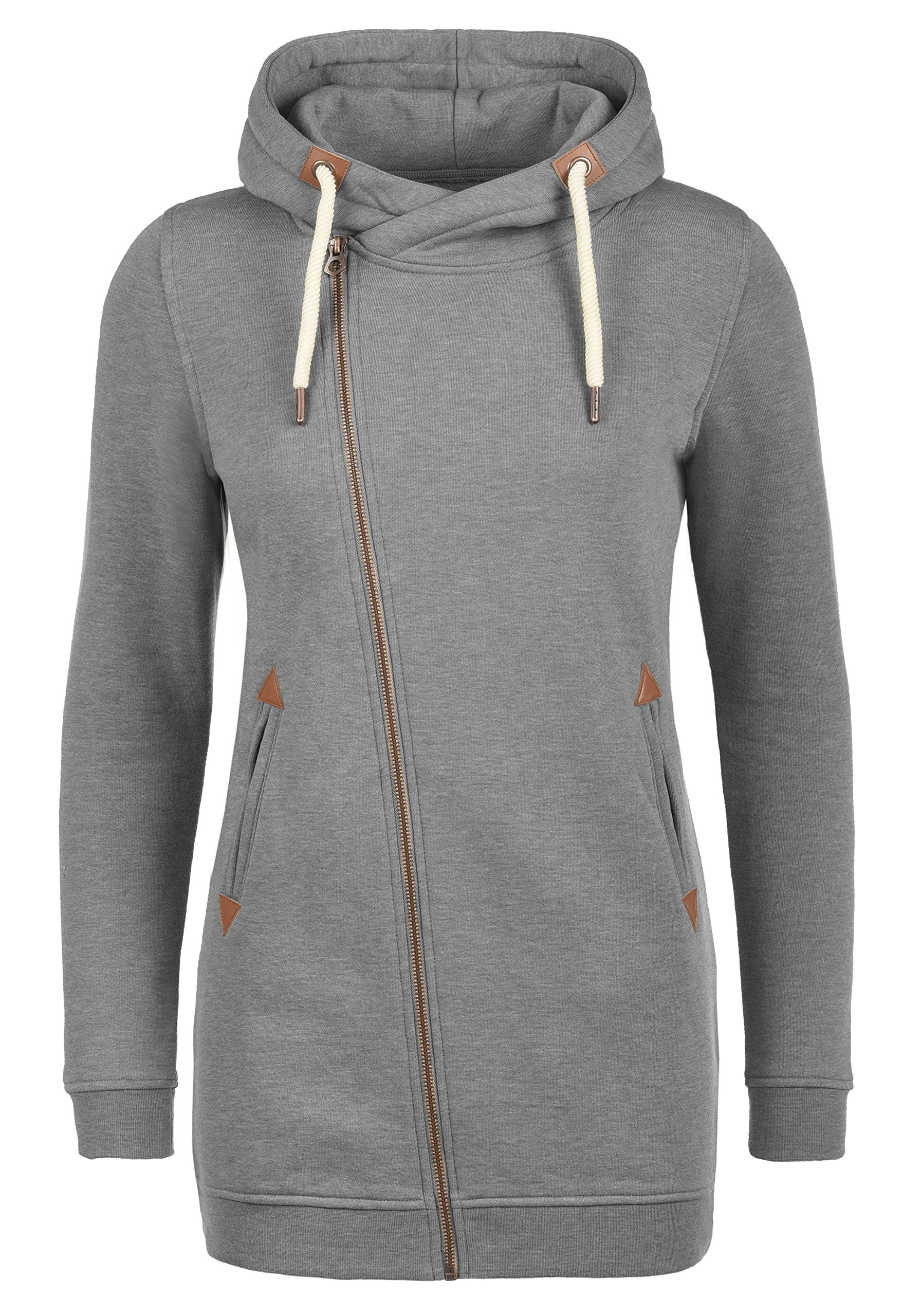 2c71b6f6b406d Desires Vicky Zip Veste en Sweat Zippé Sweat-Shirt À Capuche Long pour  Femme À
