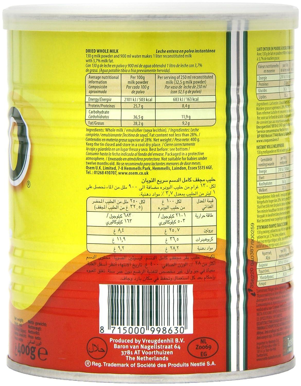 Nestlé nido leche en polvo, 400 g (Pack de 6): Amazon.es: Alimentación y bebidas