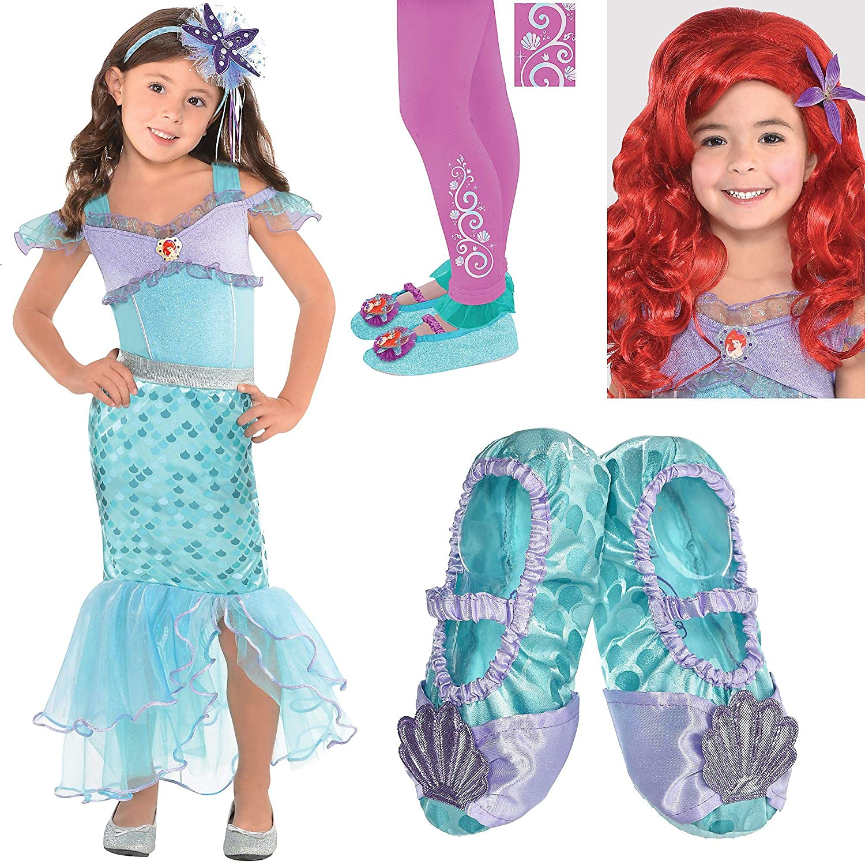 Girls Disney Ariel Deluxe Wig Child Halloween Costume Accessory