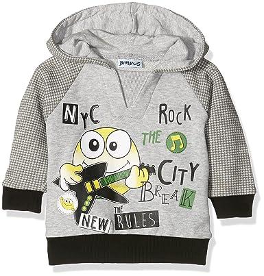 Bimbus Baby Girls Felpa C Cappuccio Inserti Pied de Poul Sportswear ... afe87e1c209