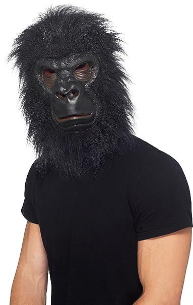 amazon com smiffys realistic furry gorilla ape animal costume mask