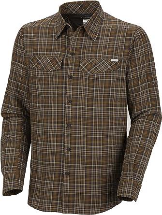 Gravel XX-Large Columbia Mens Silver Ridge Plaid Long Sleeve Shirt