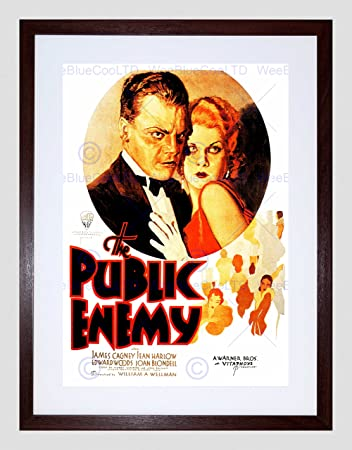 MOVIE FILM PUBLIC ENEMY JAMES CAGNEY CRIME DRAMA HARLOW FRAMED PRINT B12X5563