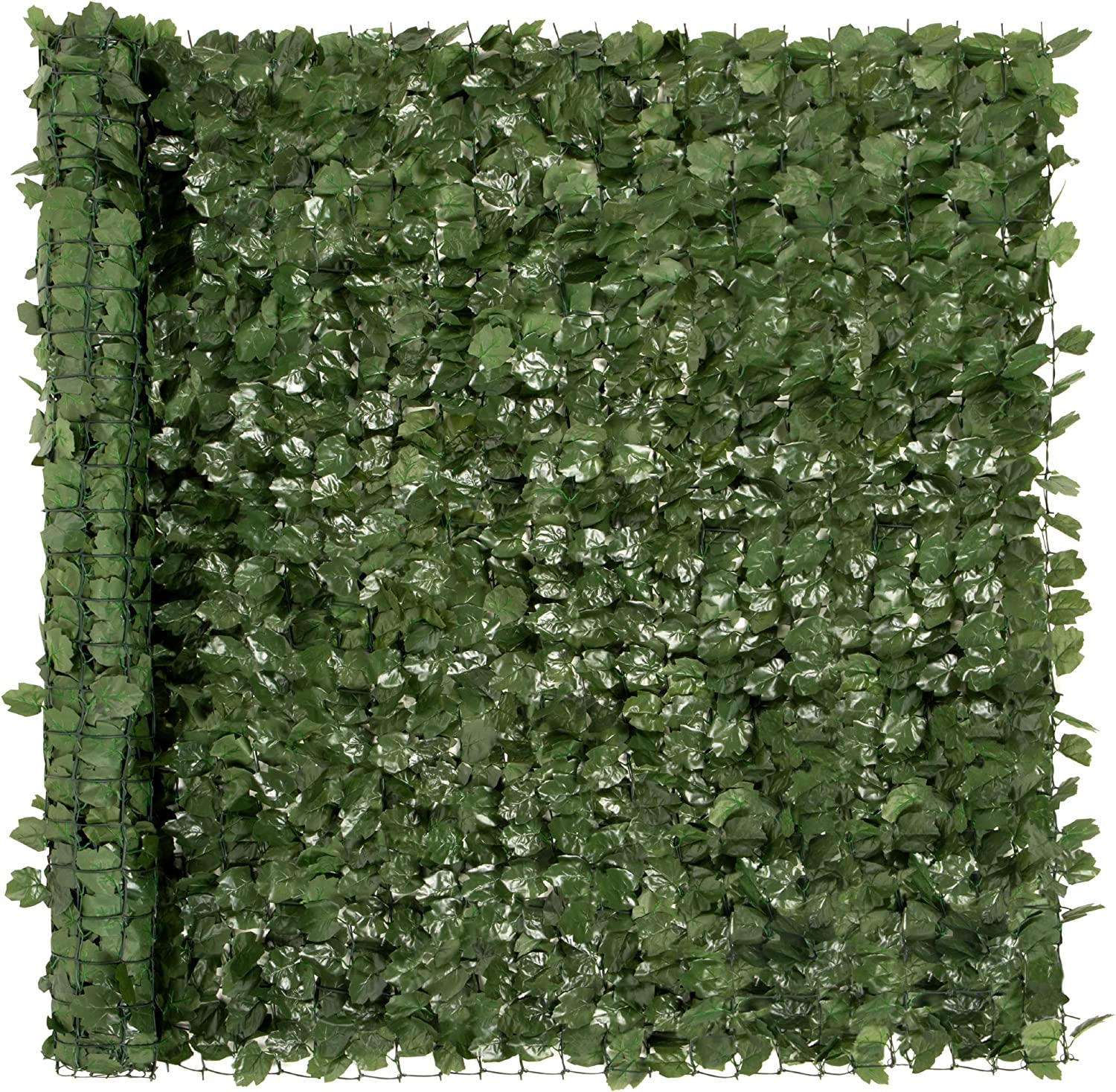 Best Choice Products Outdoor Garden 96x72-inch Artificial Faux Ivy Hedge Leaf and Vine Privacy Fence Wall Screen - Green