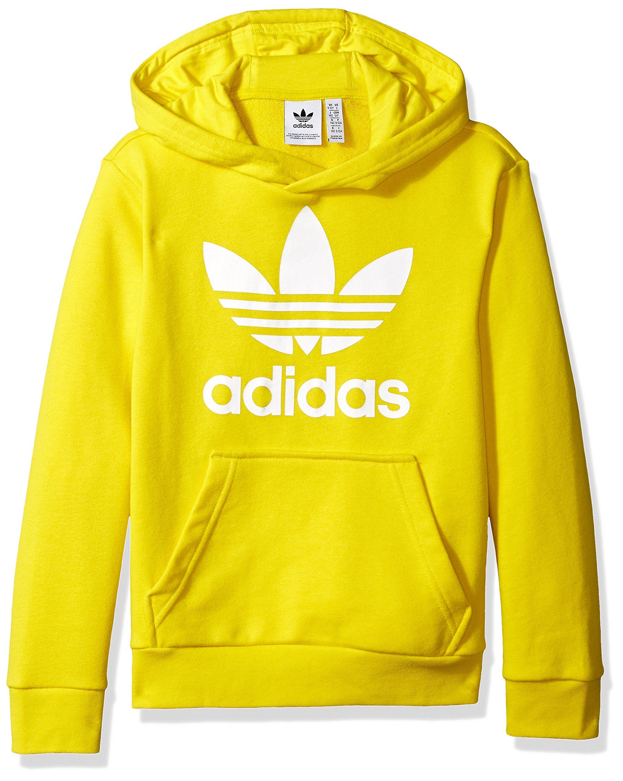 d10aba491 Galleon - Adidas Originals Kids' Big Originals Trefoil Hoodie,  Yellow/White, M