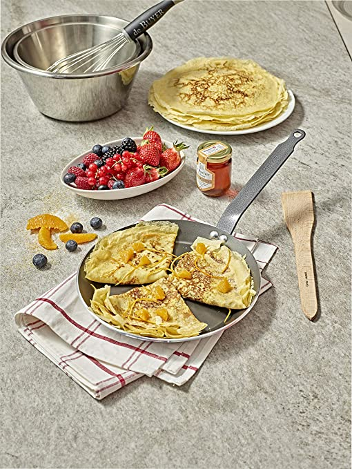 Choc RESTO Induction Non-Stick Aluminum Crepe//Tortilla Pan 4 mm Thick 12-Inch